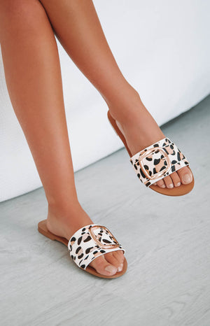 Billini Myah Slides Snow Leopard Pony