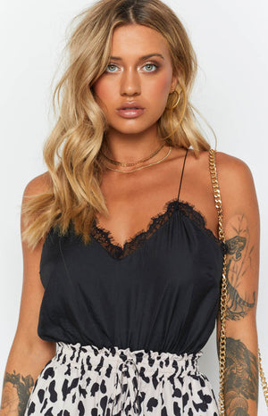 Arabella Lace Cami Black