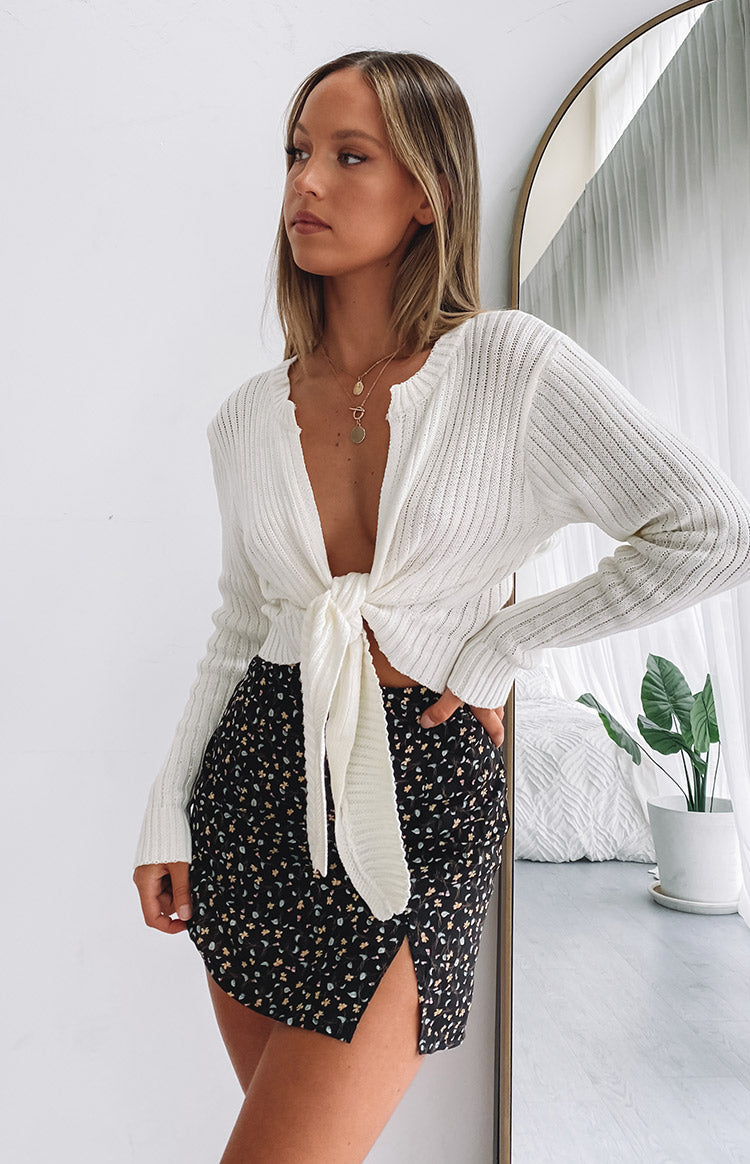 Bodhi Tie Up Top White