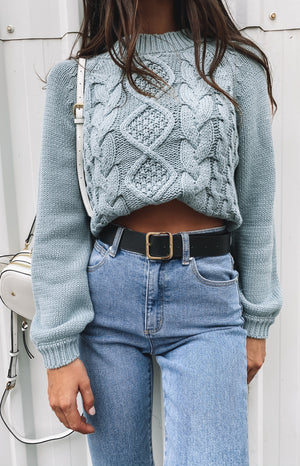 Breaker Knitted Winter Sweater Mint