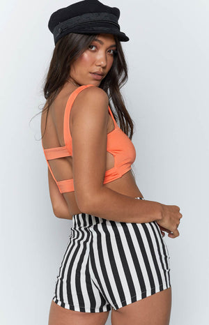 Caged in Crop Orange