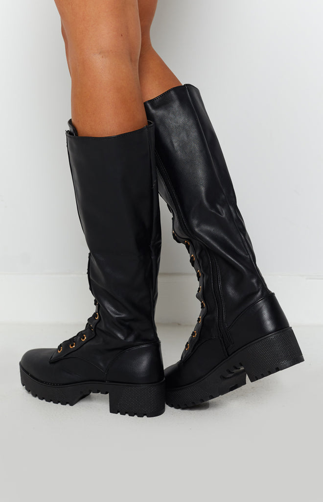Careen Lace Up Boots Black 3