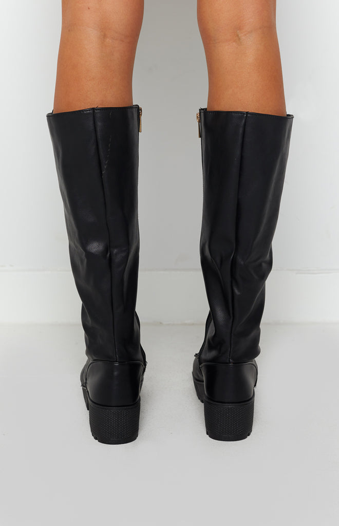 Careen Lace Up Boots Black 4