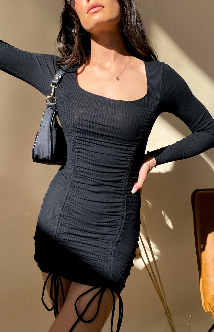 https://files.beginningboutique.com.au/20200706+-+Carla+Ruched+Long+Sleeve+Dress+Black.mp4