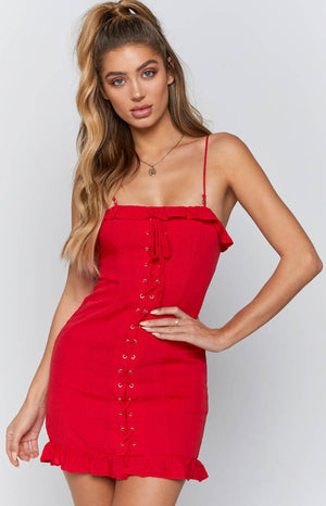 Charmed Dress Red