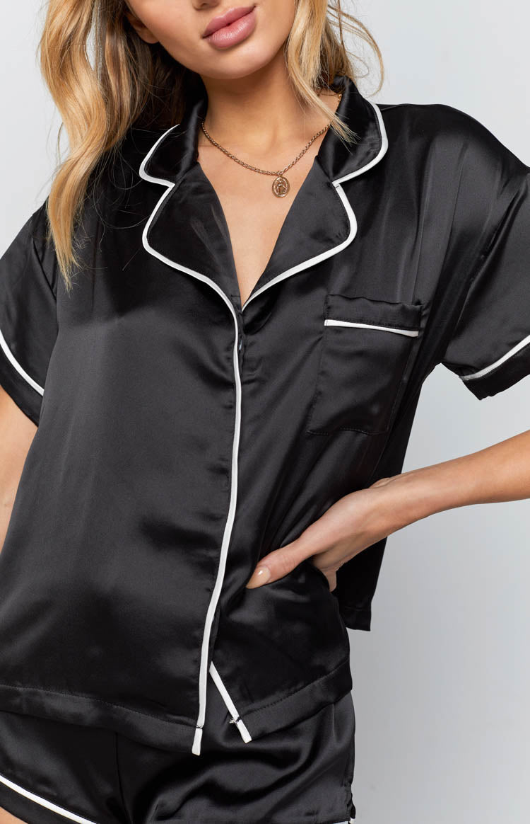Cherie Button Up Shirt Black