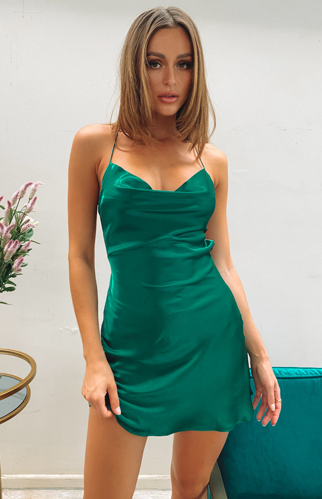 Come and Get It Party Dress Emerald 4 6 8 10 12 14 16