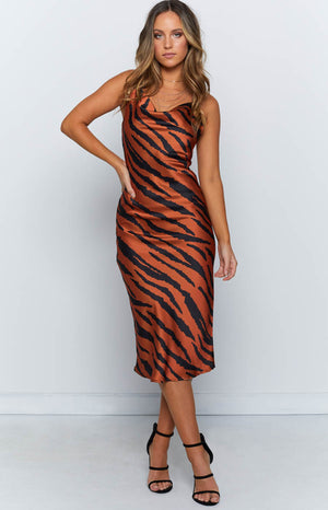 Coralie Dress Tiger Print