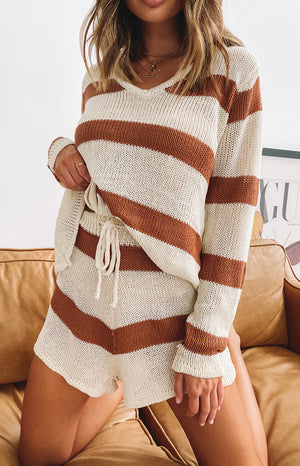 Cosmic Latte Two Piece Set Mocha