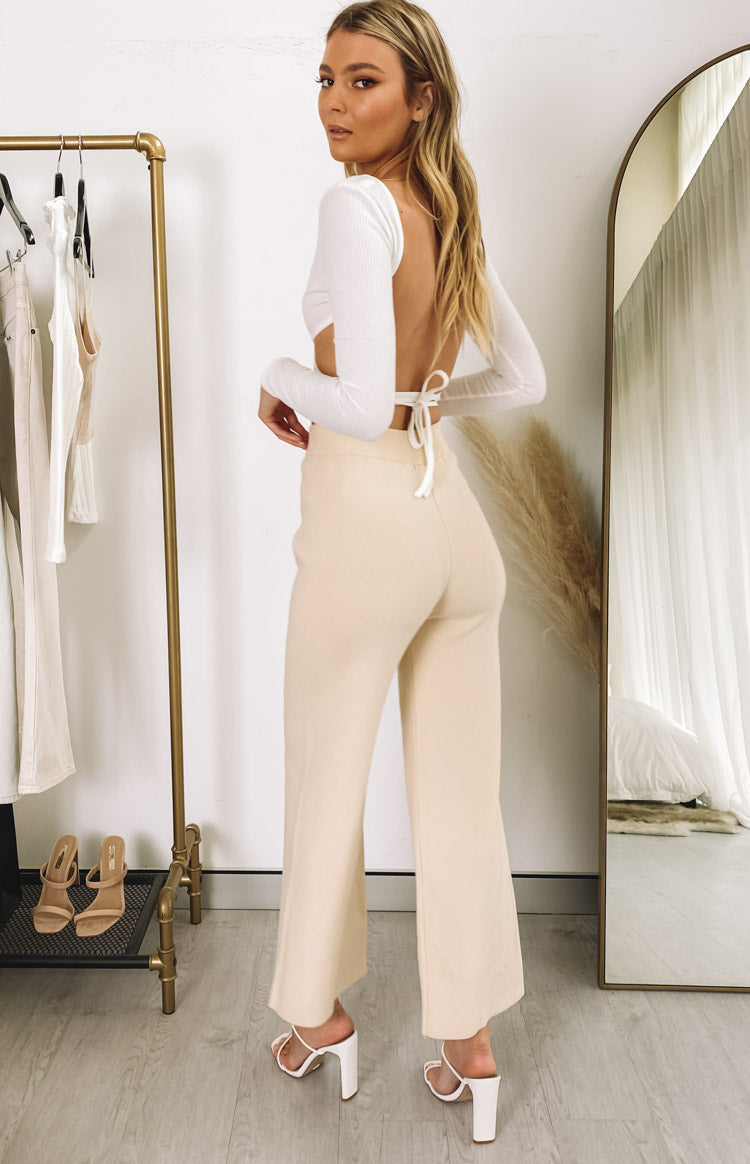 Diaz Knitted Pants Cream