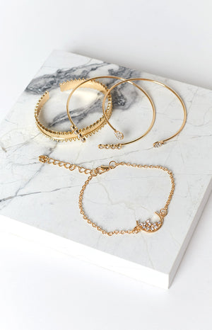 Eclat Distinction Bracelet Set Gold