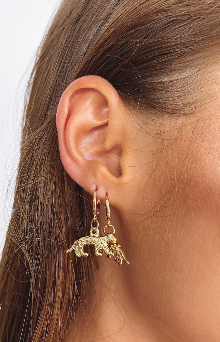 Eclat Wild Jag Earrings Gold