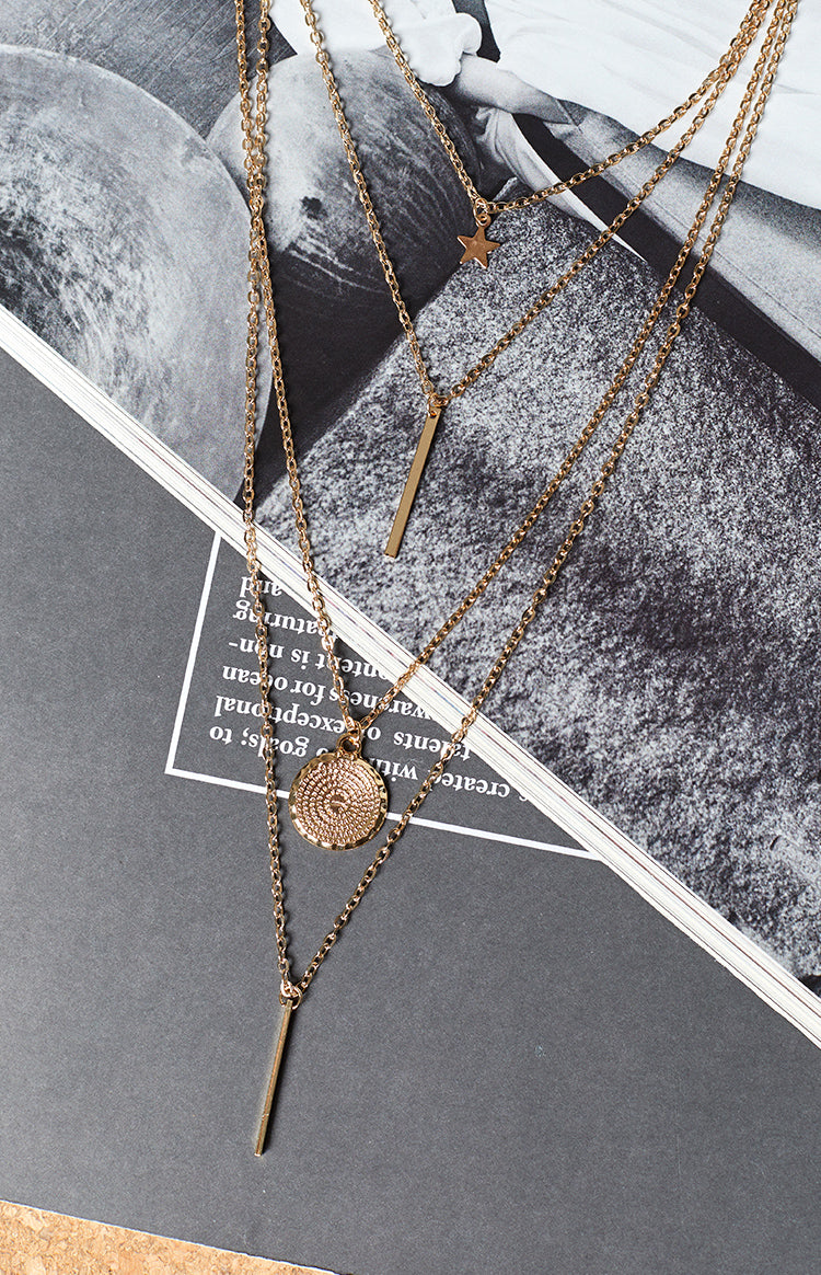 Eclat Ainslee Layered Necklace Gold
