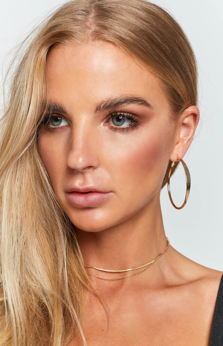Eclat Elias Luxe Hoop Earrings Gold