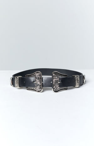 Eclat Hoxton Double Buckle Belt Black