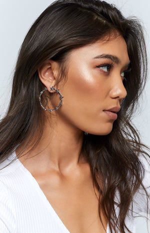 Eclat Sole Star Earrings Silver