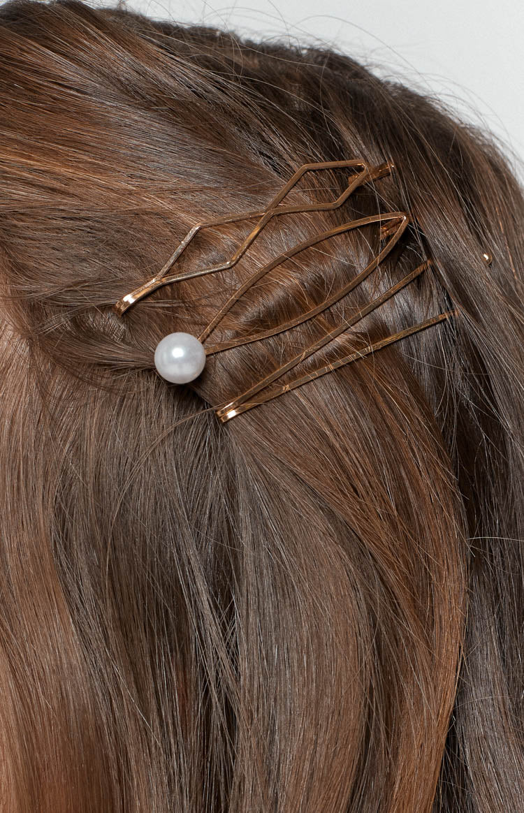 Eclat Indiana Hair Pin Set 3 Pcs Gold