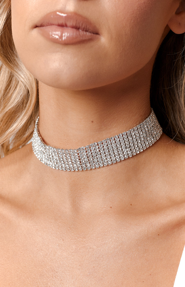 Eclat Kendall Choker Necklace Diamonte