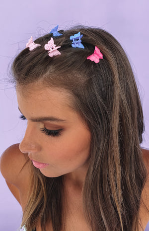 Eclat Sugarbabe Butterfly Hair Clips Rainbow