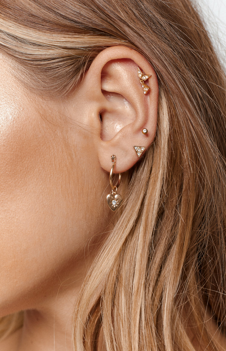 Eclat True Heart Earrings Gold
