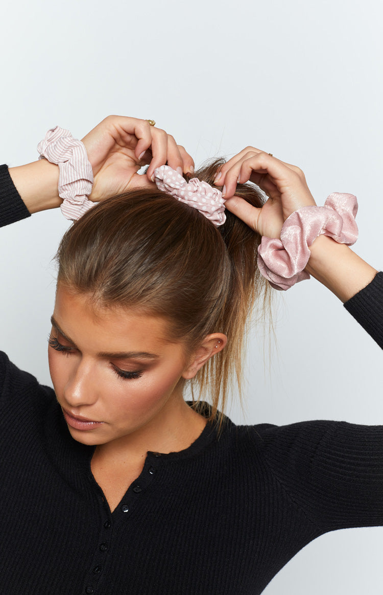 Eclat Whirlwind Scrunchy Pink 2 Pack