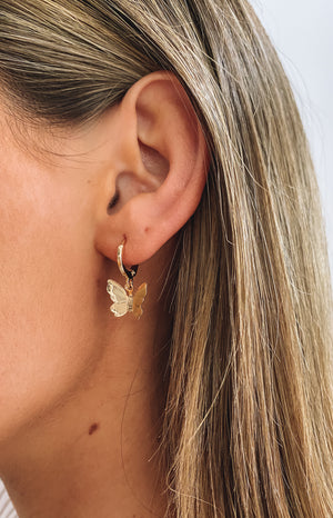 Eclat Painted Lady Earrings Gold
