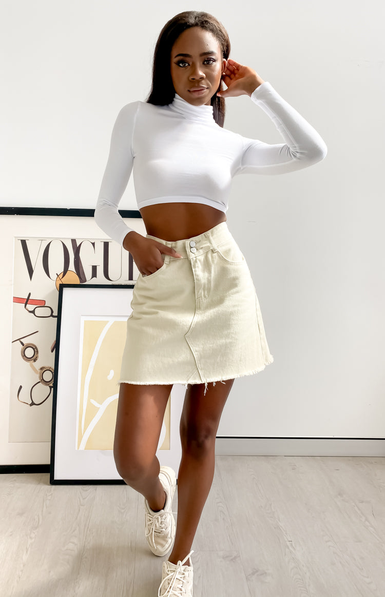 Eilish Mini Skirt Bone