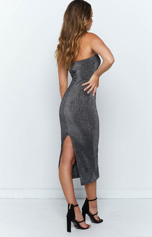 Emilie Dress Black Shimmer
