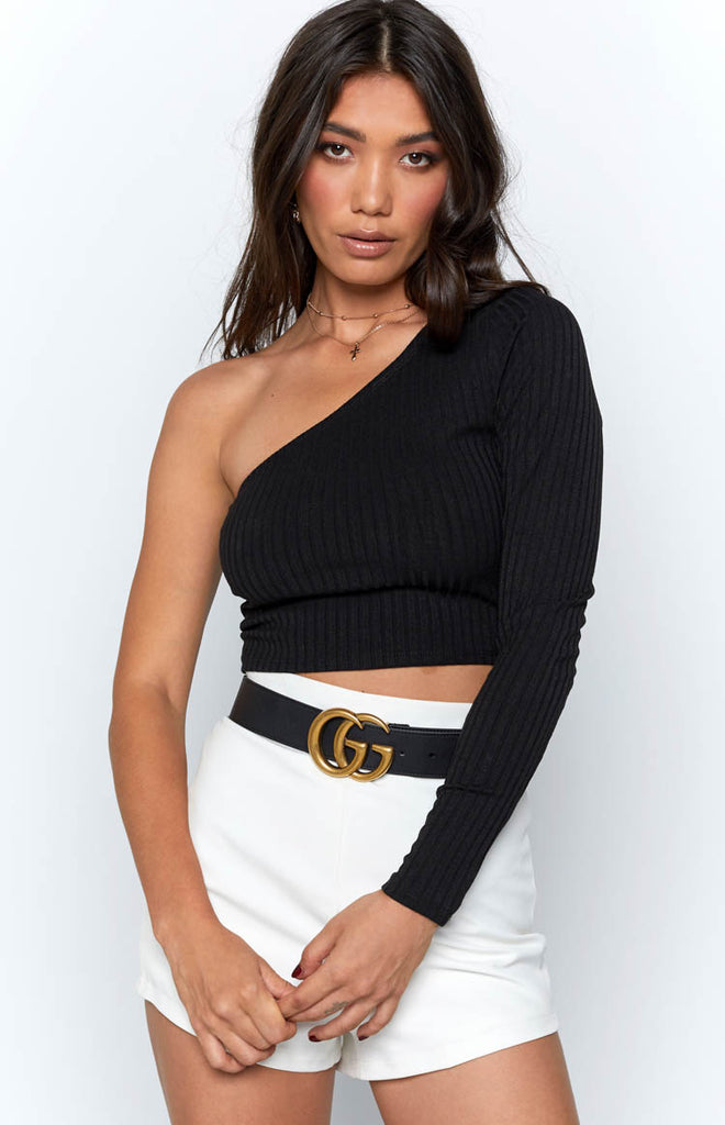 Empress Crop Black