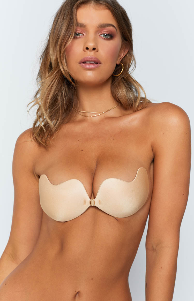 Fabric Stick On Bra Nude