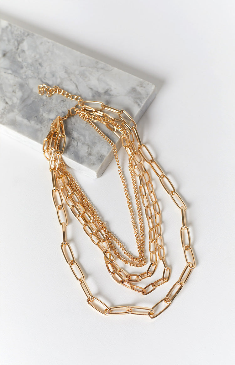 Eclat Polly Jean Layered Necklace Gold