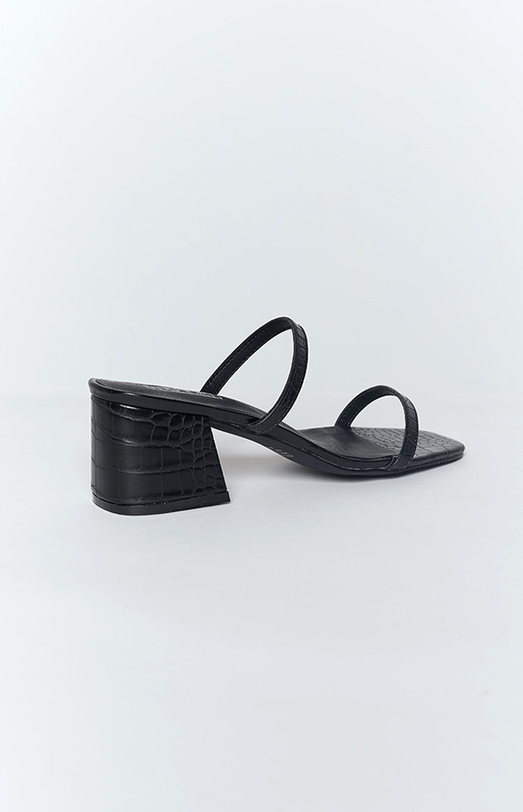 Therapy Goldie Heels Black Croc
