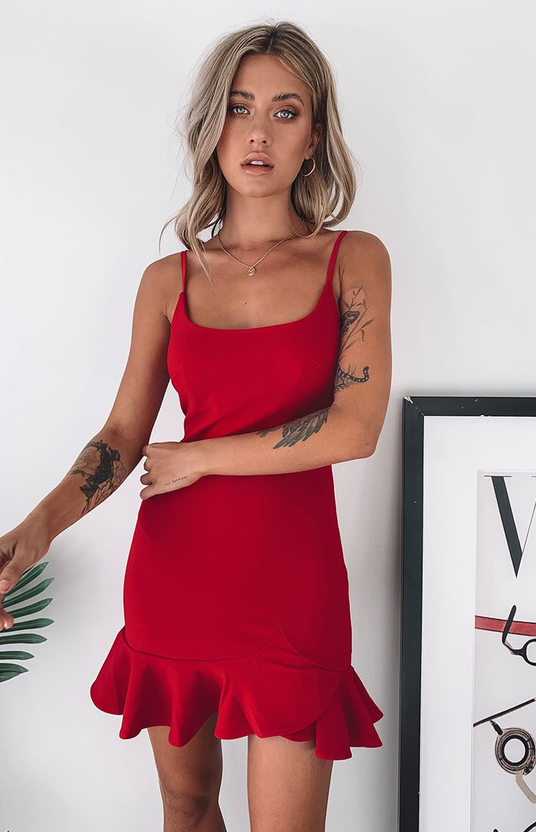 Good Vibes Dress Red