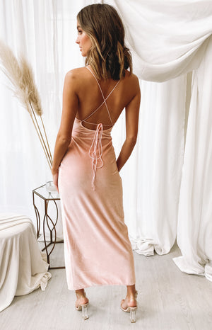 Graduation Formal Dress Blush