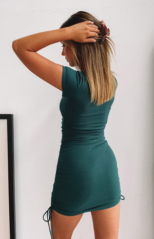 Guilty Pleasure Tee Dress Teal