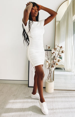 Guilty Pleasure Tee Dress White