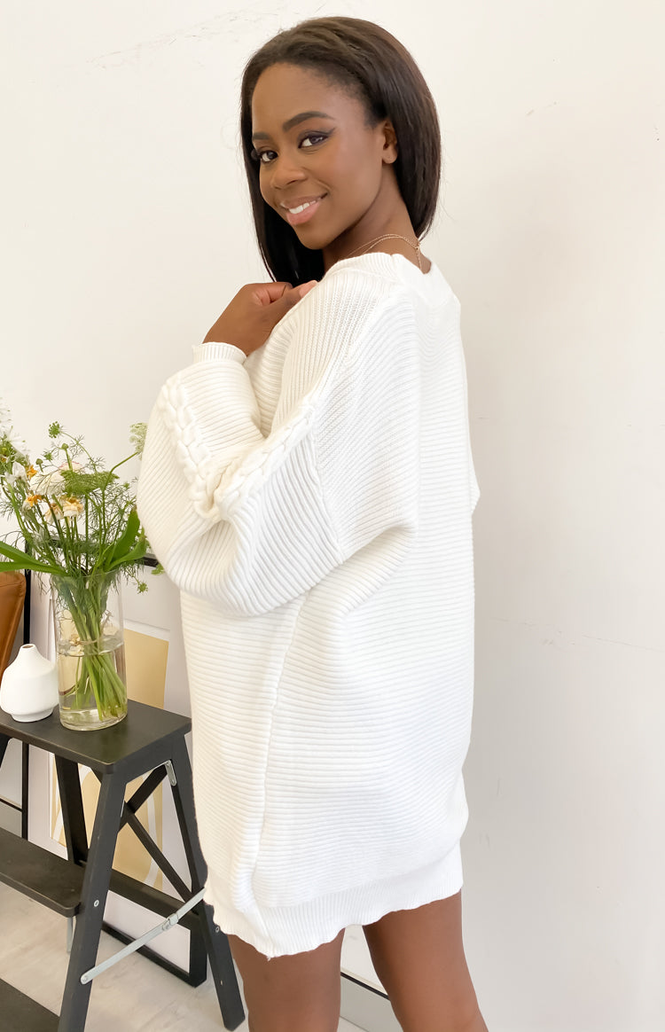 Hallie Cardigan White