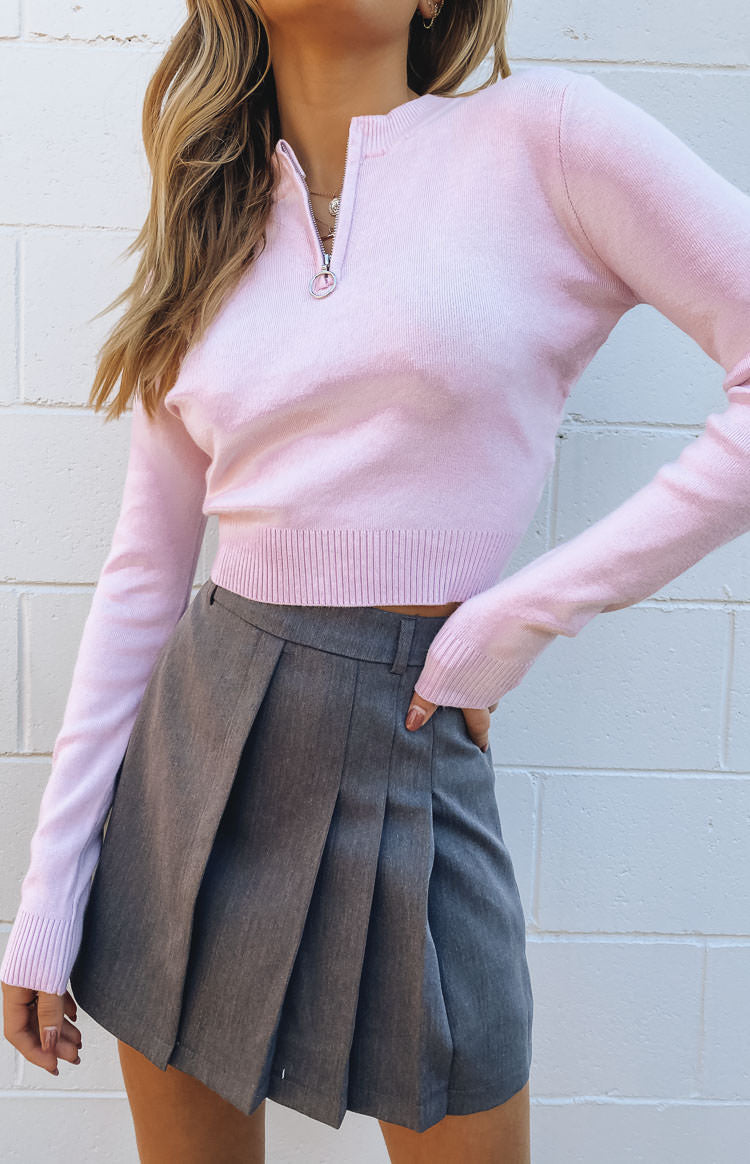 Hotline Long Sleeve Knit Top Lilac