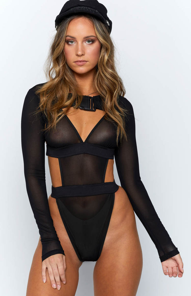 9d8fa5b27f Icon Mesh Bodysuit Black – Beginning Boutique