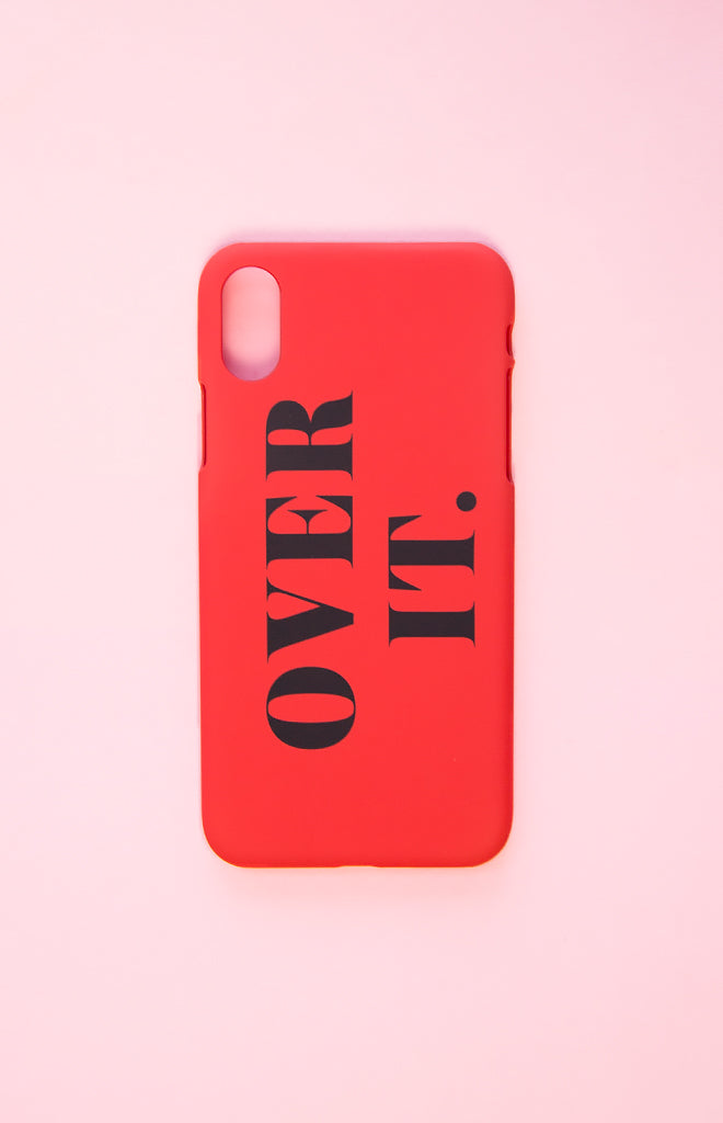Michael x Shani Over It iPhone X Case Red