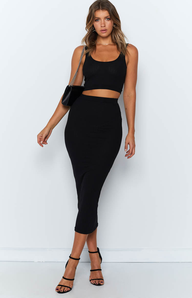 Mary Jane Two Piece Set Black