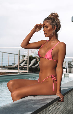 9.0 Swim Jolie Bikini Top Metallic Fuschia