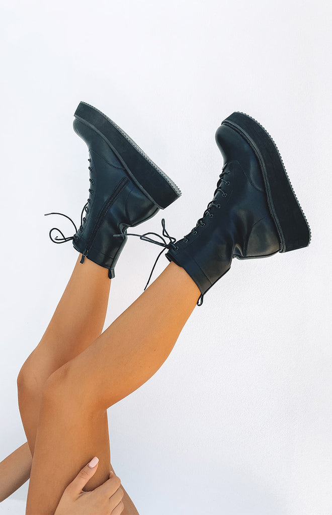 Koi Footwear Lovi Boots Black Beginning Boutique For the alt girls, the trend lovers, the more classic and minimal amongst us and those who like to kick it in some sneaks. beginning boutique