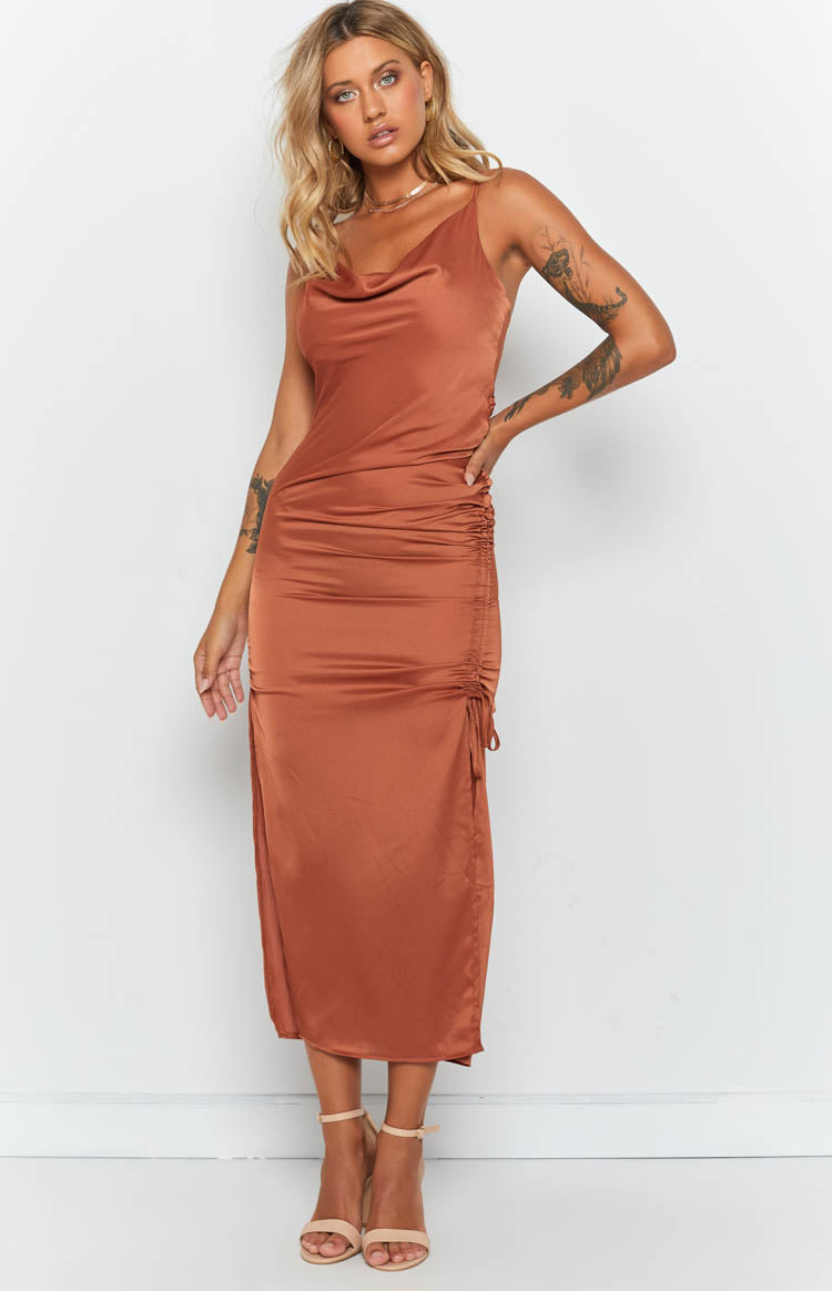 La Stella Dress Rust