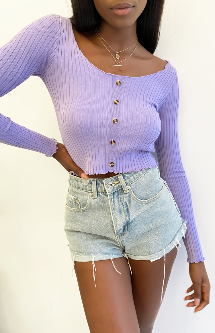 Lady Crawley Long Sleeve Knit Lilac