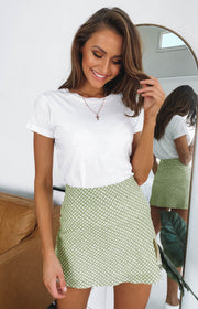 Laura Skirt Green Polka