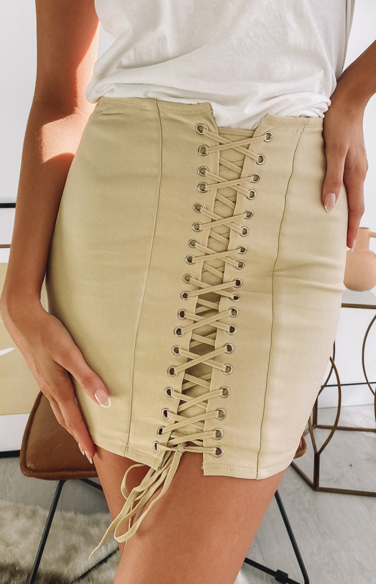Lioness Dangerous Women Mini Skirt Cream