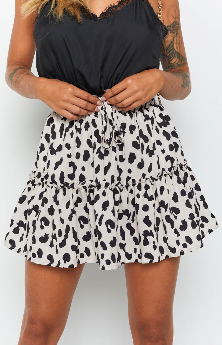 Love Me Today Skirt Leopard