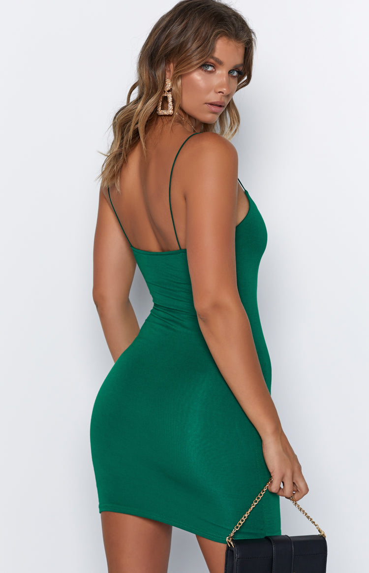 Basic Love Mini Dress Forest Green