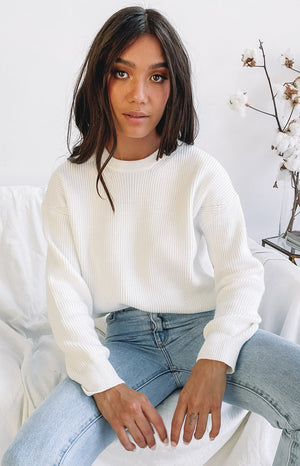 Luella Oversized Jumper White
